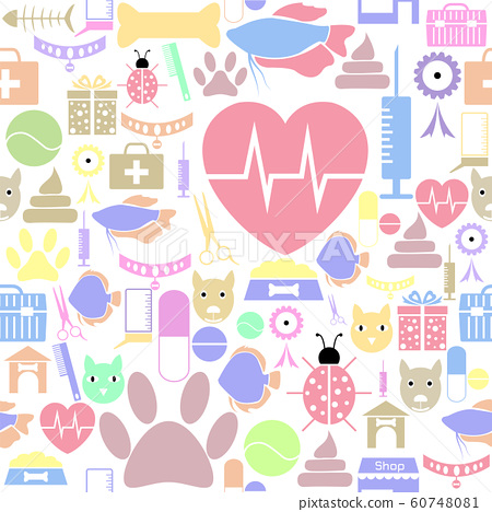 pets seamless pattern background icon. 60748081