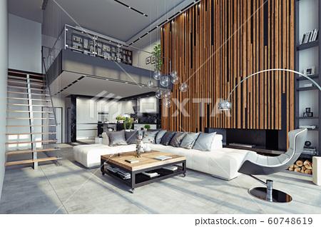 modern living interior 60748619