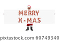 Santa Claus wishing happy New Year and Merry Christmas 60749340