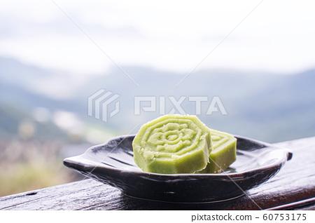綠豆糕 茶點 糕點 茶樓 台灣 中秋節 Chinese Mung bean cake お菓子  60753175