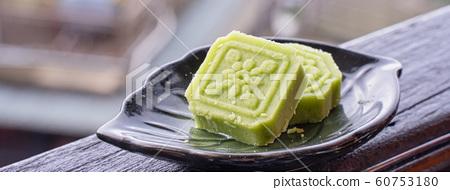 綠豆糕 茶點 糕點 茶樓 台灣 中秋節 Chinese Mung bean cake お菓子  60753180