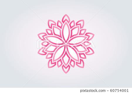 Lotus flower Watercolor style. Vector Logo 60754001