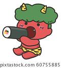 Cute red demon eating Ehomaki 60755885