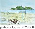 해변의 아침 수채화 60755988