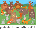 cartoon wild animal characters group 60756011