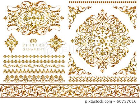 金屬飾品套裝金 60757016