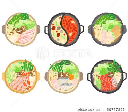 Set of pots Yoroshibe Hotpot Chicken dumpling pot Crab sukiyaki Sukiyaki 60757891