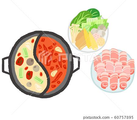 火鍋,蔬菜,肉類,套裝 60757895
