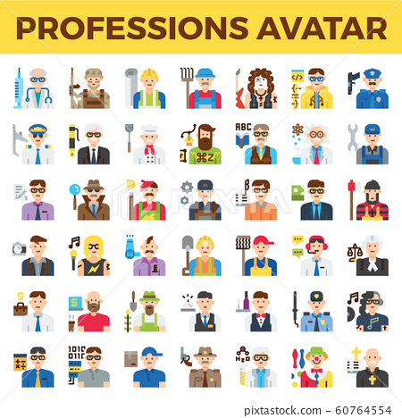 Professions and occupation avatar 60764554