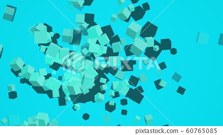 CG 큐브 분출 다수의 입방체의 동영상 60765085