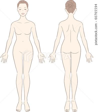 女人美女裸體全身裸體 60765594