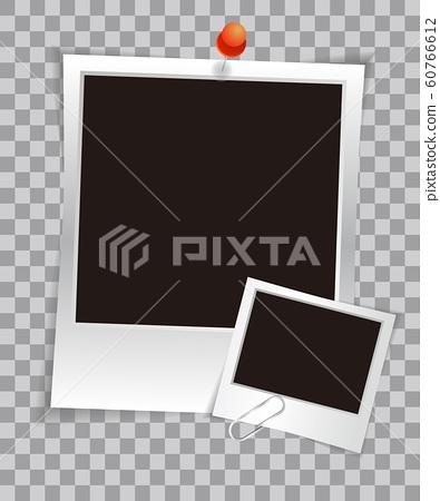 Retro realistic photo frame 60766612