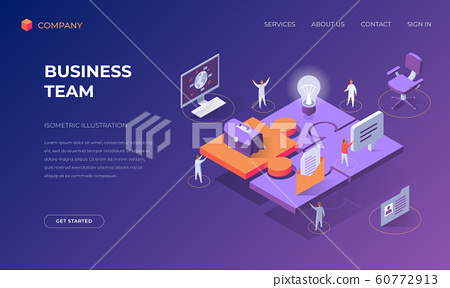 Landing page for business team 60772913