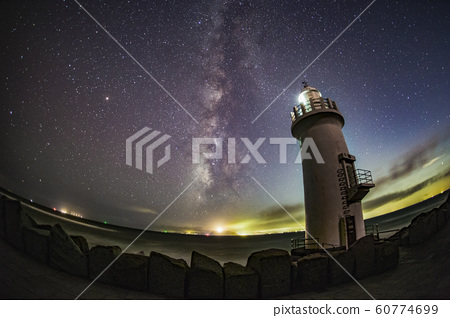 milky way with cape irago lighthouse 60774699
