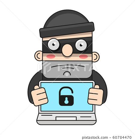 Cute Thief Character. Vector Cartoon Illustration. 60784470