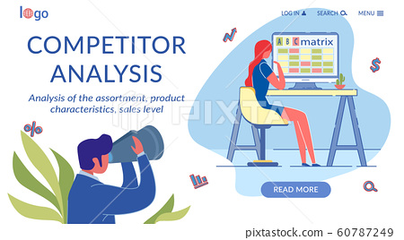 Competitor Analysis Flat Landing Page Template 60787249