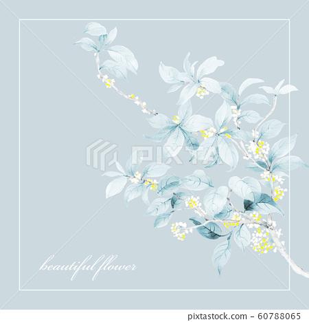 色彩雅緻的水彩手繪花設計和邀請卡設計 60788065
