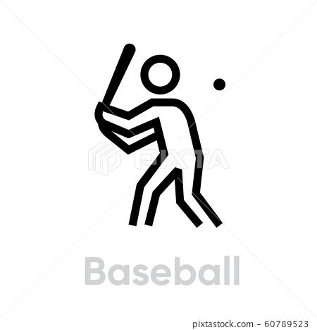 Baseball sport icons 60789523