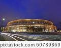 새로운 국립 경기장 야경 2019 년 12 월 21 일 60789869