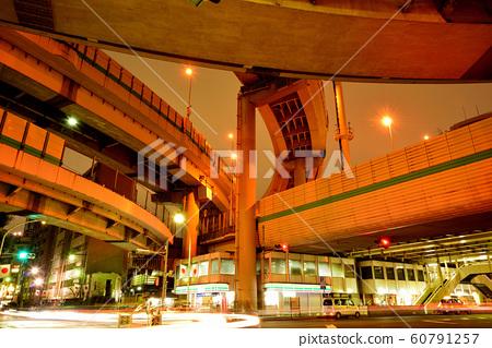 Night view of Hakozaki Junction on the Metropolitan Expressway 60791257