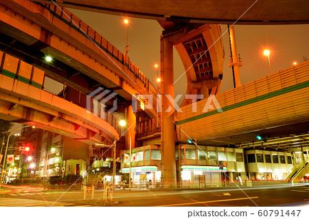 Night view of Hakozaki Junction on the Metropolitan Expressway 60791447