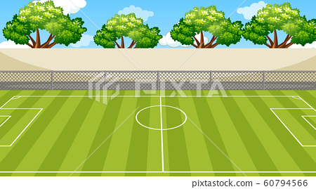Background scene with trees around the football 60794566