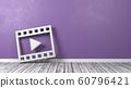 Film Movie Play Symbol on Wooden Floor Against 60796421