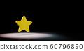 Star Symbol Spotlighted on Black Background 60796850