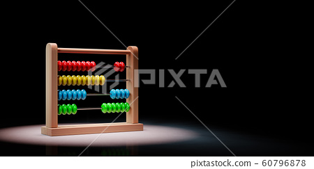 Abacus Spotlighted on Black Background 60796878