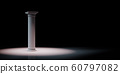 Greek Column Spotlighted on Black Background 60797082