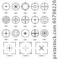 Crosshair icons set. 60798226