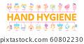 Hand Healthy Hygiene Minimal Infographic Banner Vector 60802230