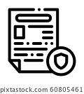 Police Report Worksheet Icon Outline Illustration 60805461