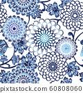 패턴 D_ 藍菊 03 60808060