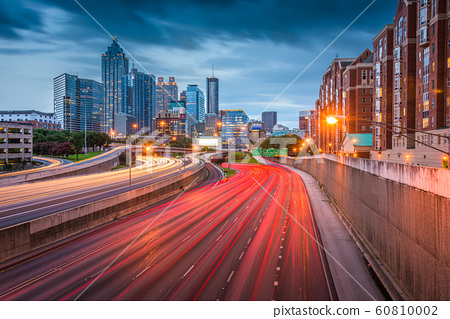 Atlanta, Georgia, USA downtown skyline over the 60810002