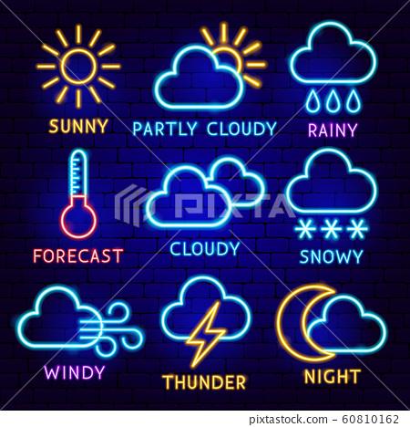 Weather Neon Label Set 60810162