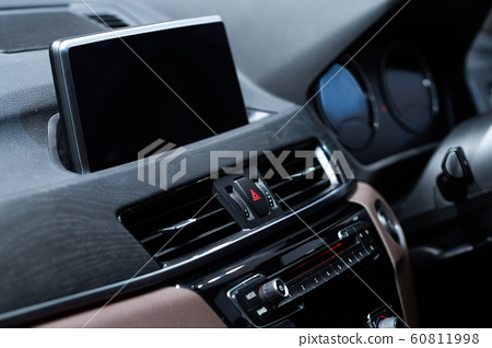 Interior of a modern car, Luxury car dashboard 60811998