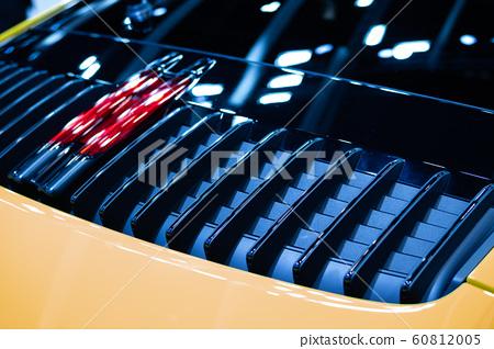 Detail of sport car fragment, rear aerodynamics 60812005
