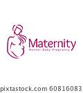 Maternity logo design template, pregnancy mother 60816083