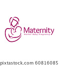 Maternity logo design template, pregnancy mother 60816085