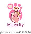 Maternity logo design template, pregnancy mother 60816086