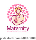 Maternity logo design template, pregnancy mother 60816088