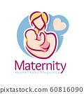 Maternity logo design template, pregnancy mother 60816090