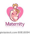 Maternity logo design template, pregnancy mother 60816094