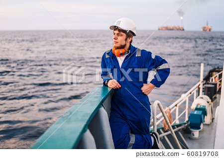 Marine Deck Officer or Chief mate on deck of offshore vessel 60819708