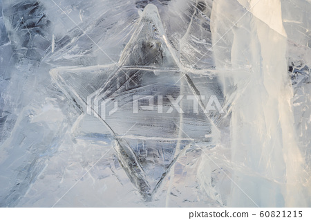 Hanukkah Jewish Star of David Carved from Ice 60821215