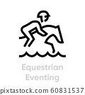 Equestrian Eventing sport icons 60831537