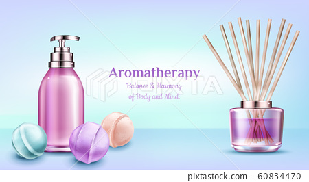 Aromatherapy spa treatment cosmetic beauty banner 60834470
