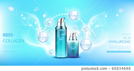 Hyaluronic acid collagen cosmetics packages mockup 60834698