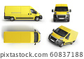 collection 3d render Yellow Delivery Van Icon 60837188